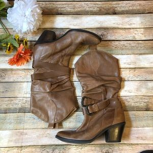 Matisse Willie boot brown soft slouch leather heel